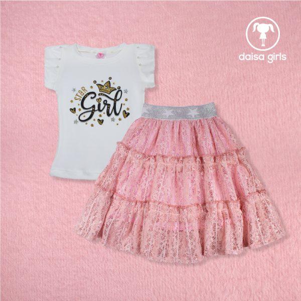 outfit de falda para niña